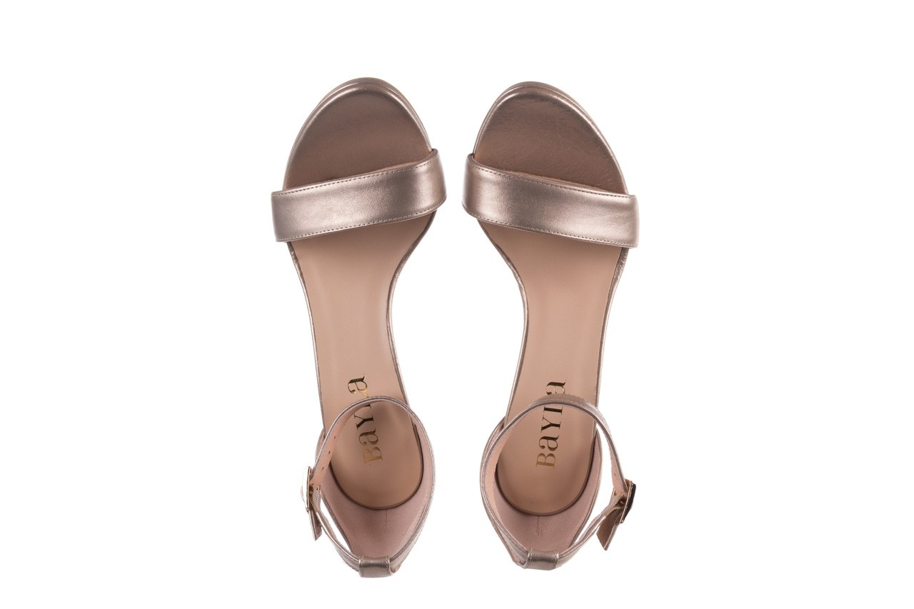 Sandały bayla-056 9177-1099 beż perła, skóra naturalna  - na obcasie - sandały - buty damskie - kobieta 11