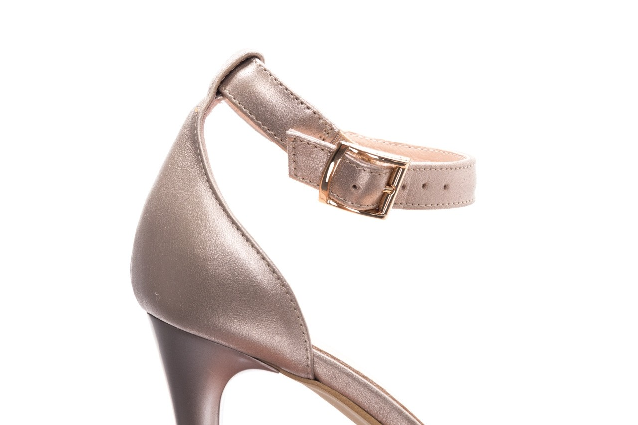 Sandały bayla-056 9177-1099 beż perła, skóra naturalna  - na obcasie - sandały - buty damskie - kobieta 12