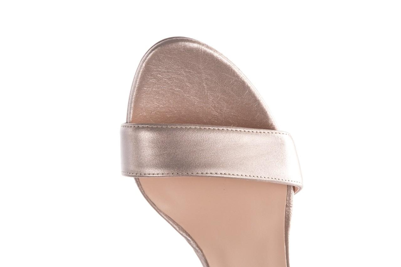Sandały bayla-056 9177-1099 beż perła, skóra naturalna  - na obcasie - sandały - buty damskie - kobieta 13