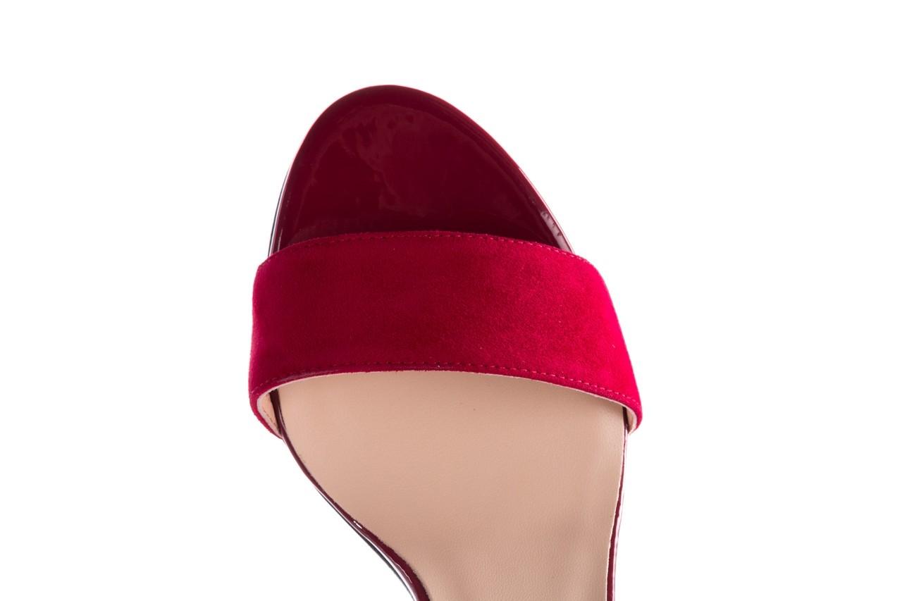 Sandały bayla-056 8024-1432 burgund zamsz, skóra naturalna 13