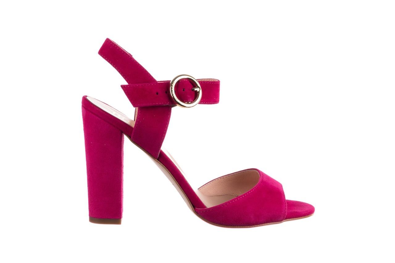 Sandały bayla-056 8023-1311 fuksja zamsz, skóra naturalna  - na obcasie - sandały - buty damskie - kobieta 7