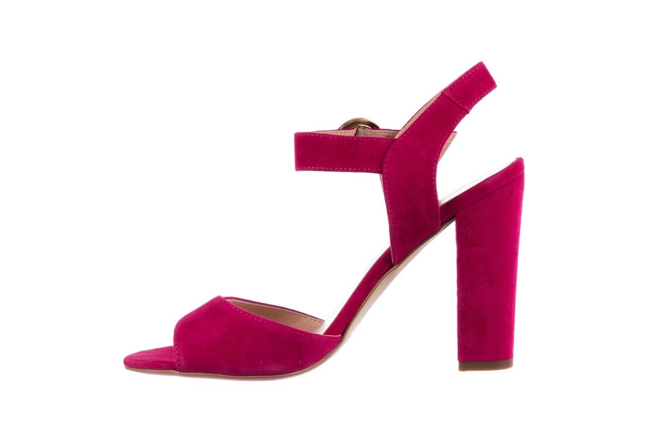 Sandały bayla-056 8023-1311 fuksja zamsz, skóra naturalna  - na obcasie - sandały - buty damskie - kobieta 9