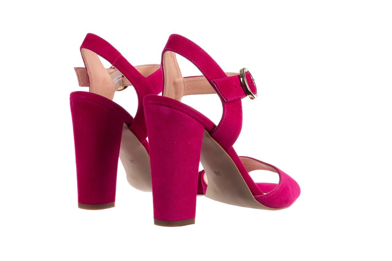 Sandały bayla-056 8023-1311 fuksja zamsz, skóra naturalna  - na obcasie - sandały - buty damskie - kobieta 10