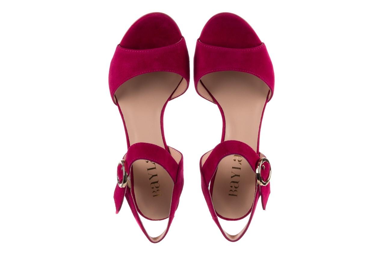Sandały bayla-056 8023-1311 fuksja zamsz, skóra naturalna  - na obcasie - sandały - buty damskie - kobieta 11