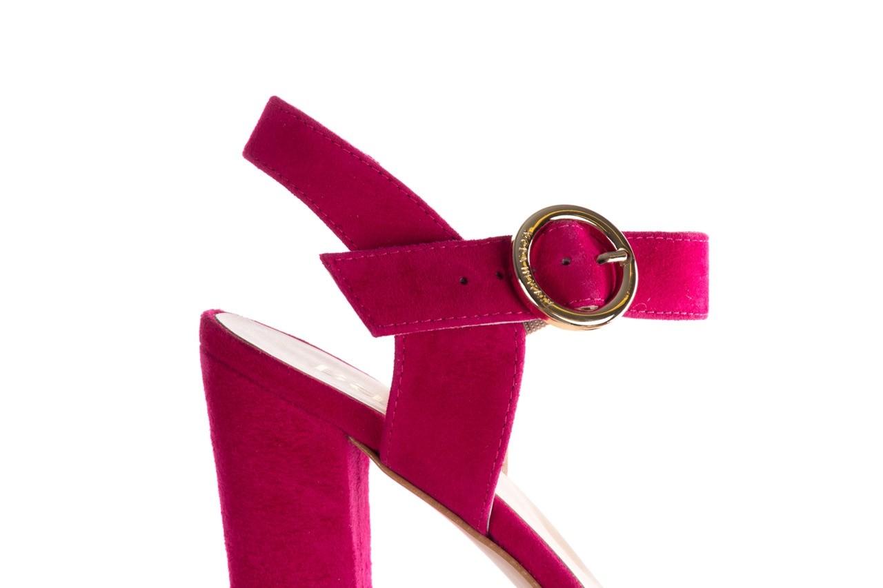 Sandały bayla-056 8023-1311 fuksja zamsz, skóra naturalna  - na obcasie - sandały - buty damskie - kobieta 12