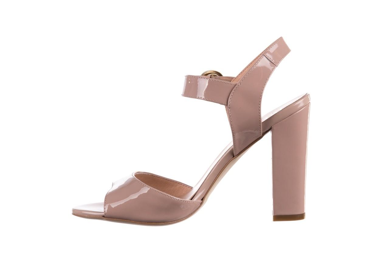 Sandały bayla-056 8023-430 beż lakier, skóra naturalna  - skórzane - sandały - buty damskie - kobieta 9