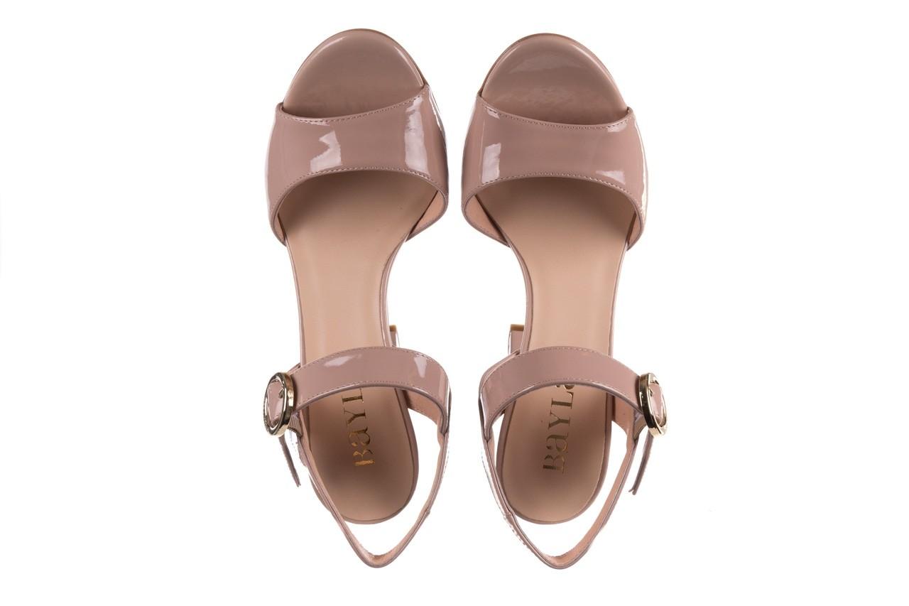 Sandały bayla-056 8023-430 beż lakier, skóra naturalna  - wiosna-lato 2019 11