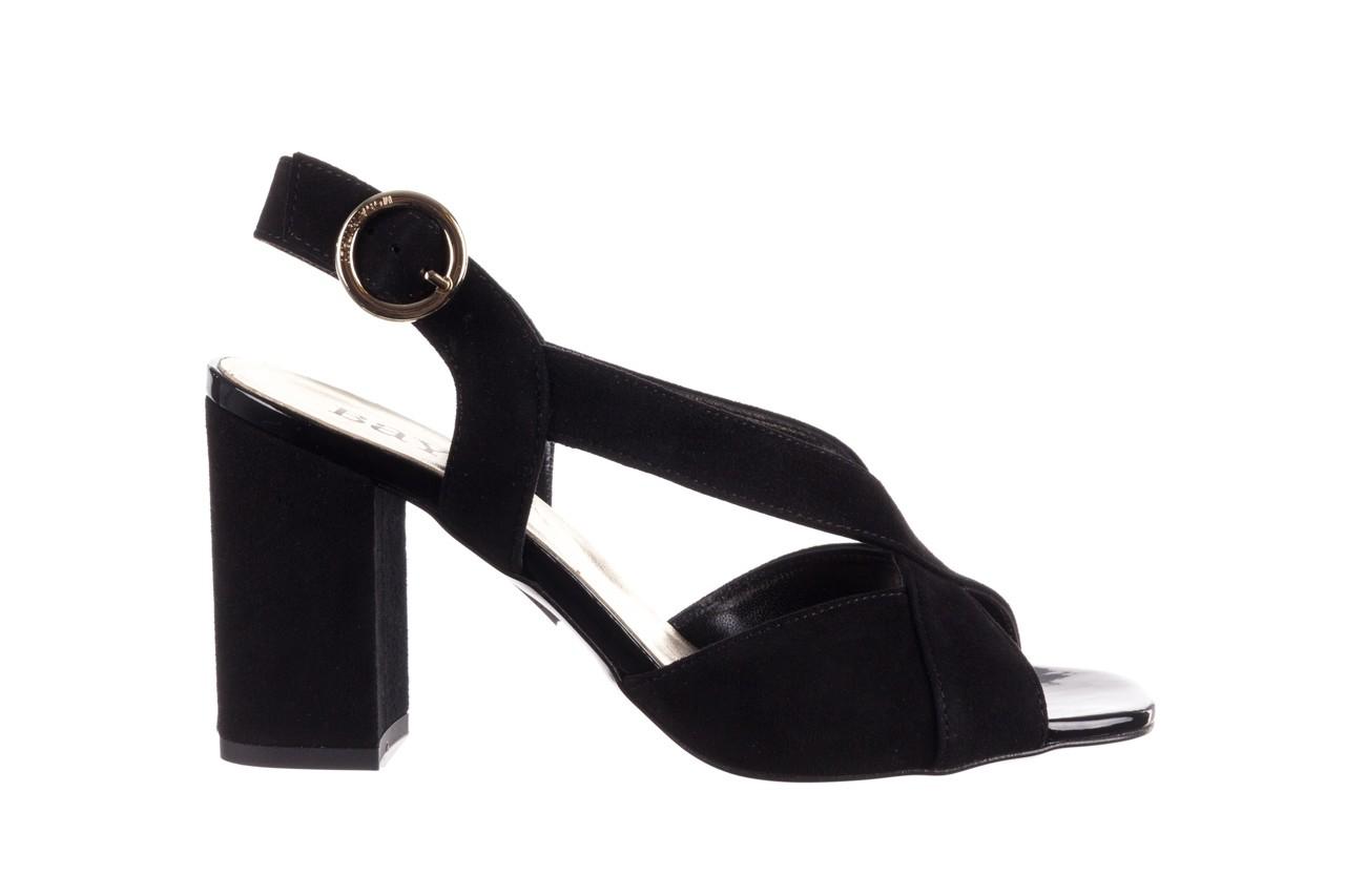 Sandały bayla-056 9205-21 czarny zamsz, skóra naturalna  - skórzane - sandały - buty damskie - kobieta 7