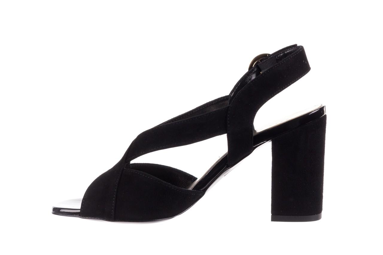 Sandały bayla-056 9205-21 czarny zamsz, skóra naturalna  - skórzane - sandały - buty damskie - kobieta 9