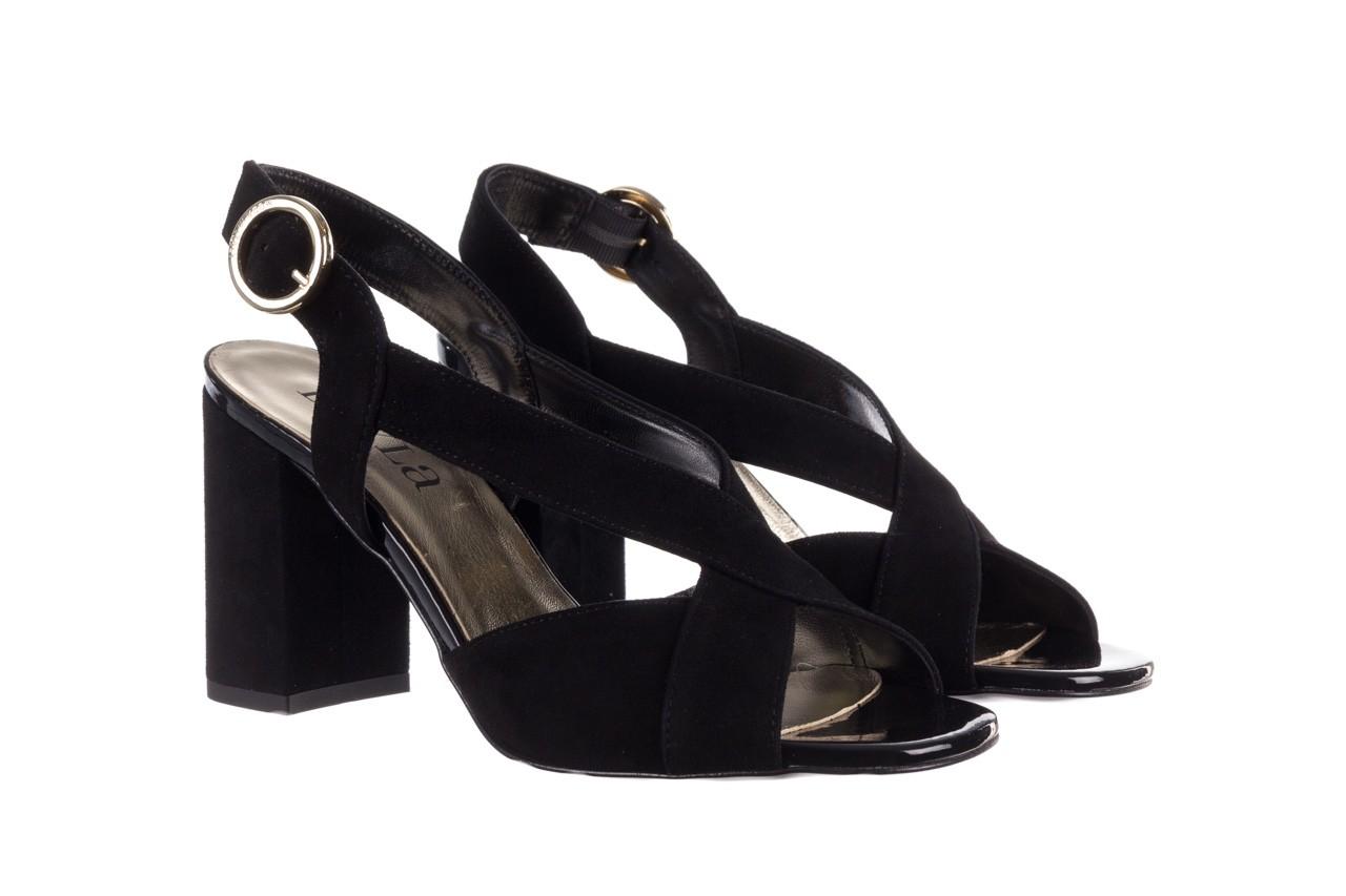Sandały bayla-056 9205-21 czarny zamsz, skóra naturalna  - skórzane - sandały - buty damskie - kobieta 8
