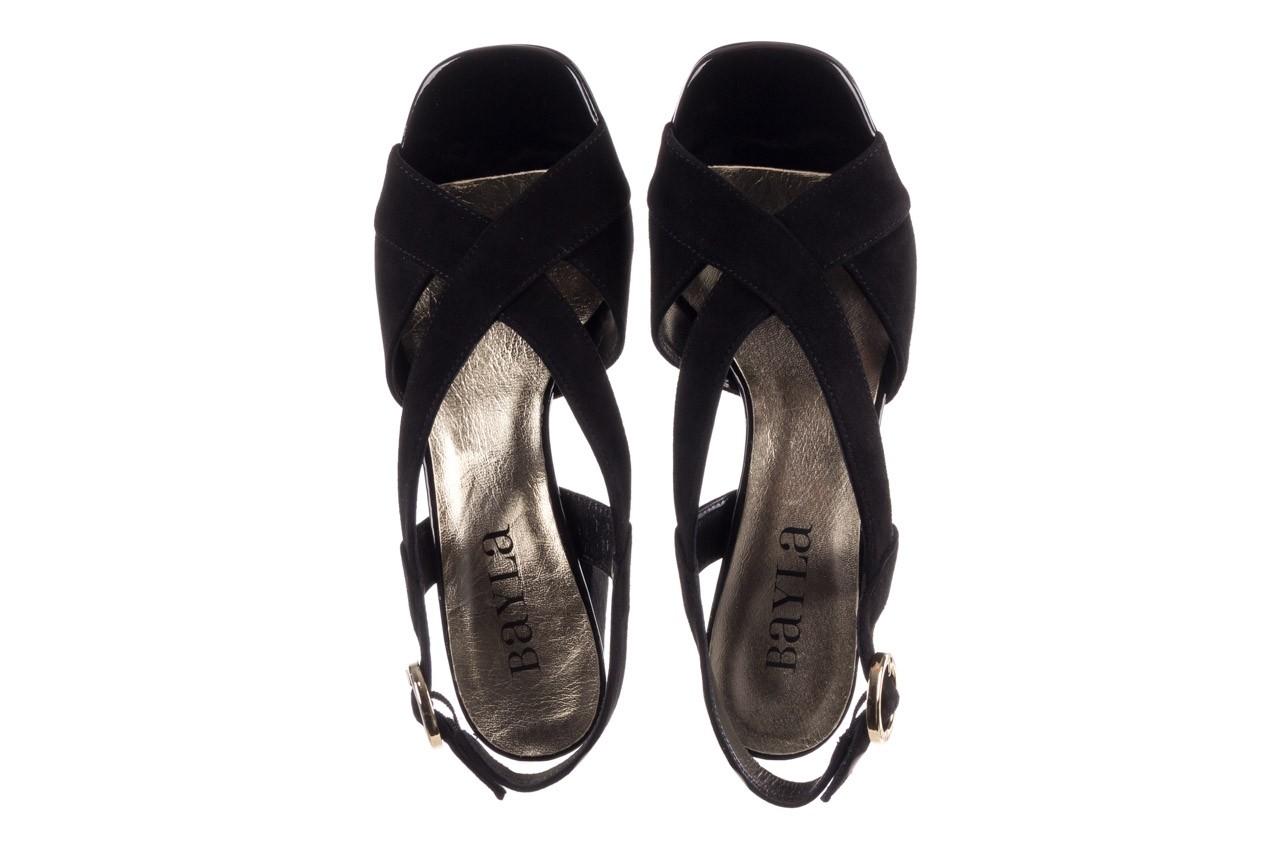 Sandały bayla-056 9205-21 czarny zamsz, skóra naturalna  - skórzane - sandały - buty damskie - kobieta 11