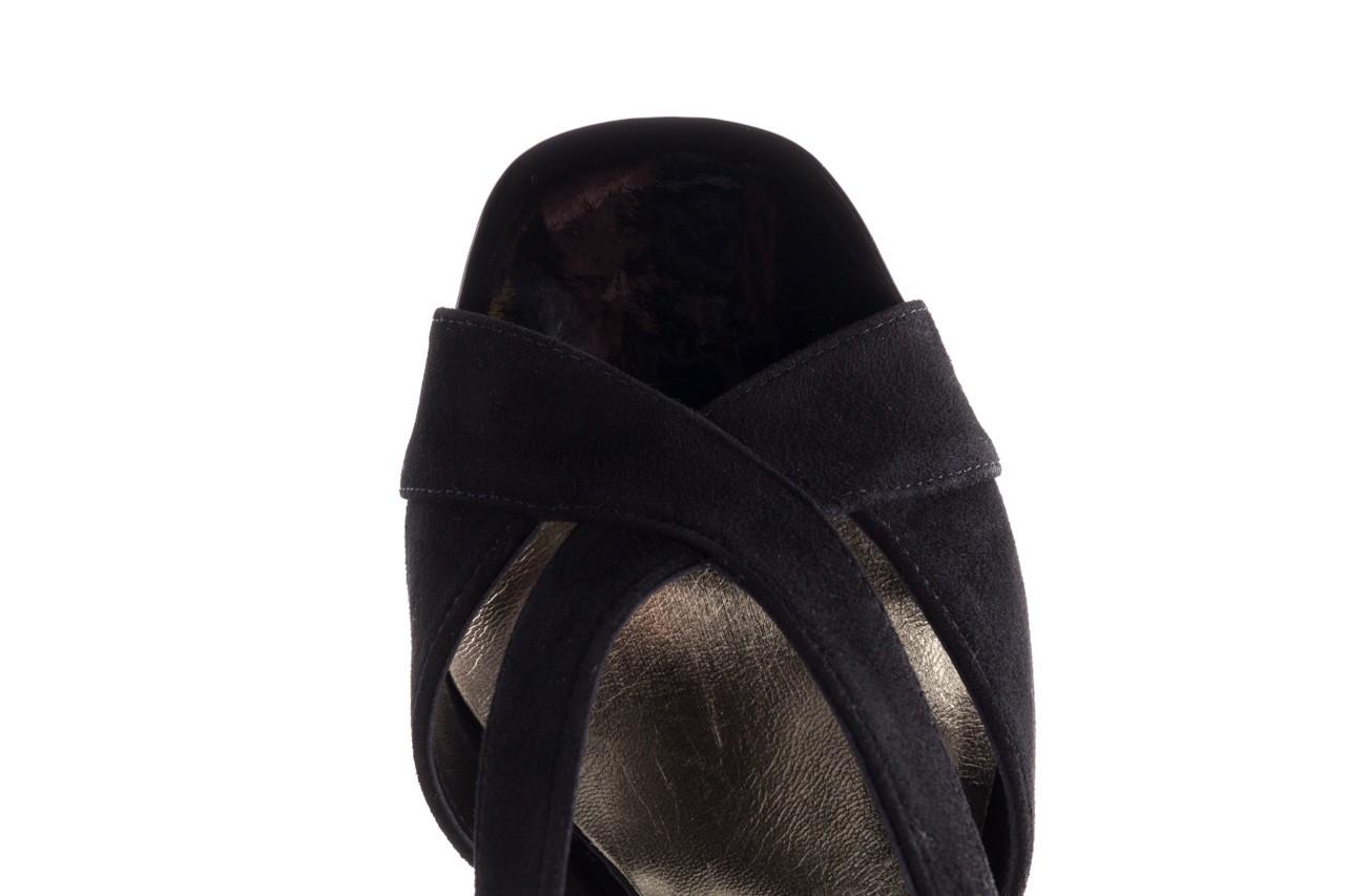 Sandały bayla-056 9205-21 czarny zamsz, skóra naturalna  - skórzane - sandały - buty damskie - kobieta 12