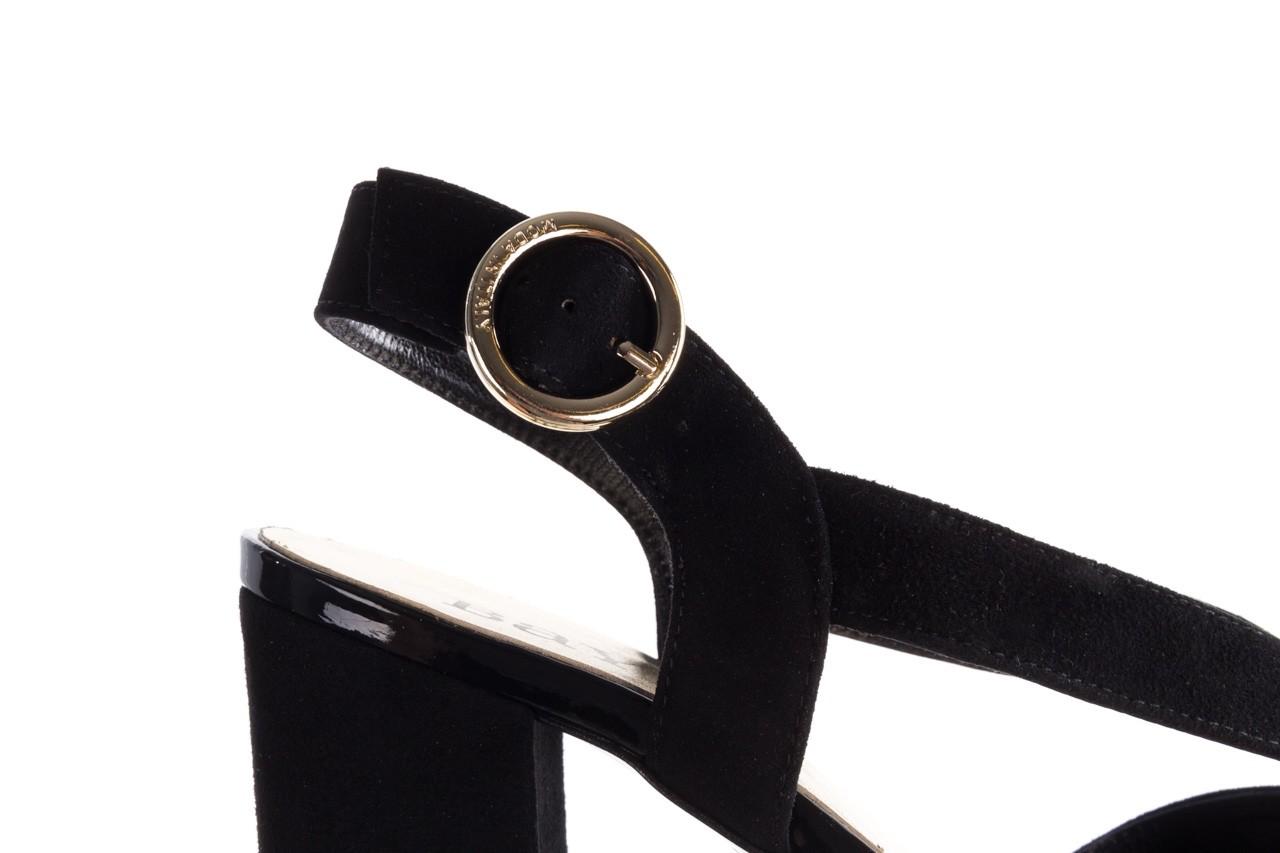 Sandały bayla-056 9205-21 czarny zamsz, skóra naturalna  - skórzane - sandały - buty damskie - kobieta 13