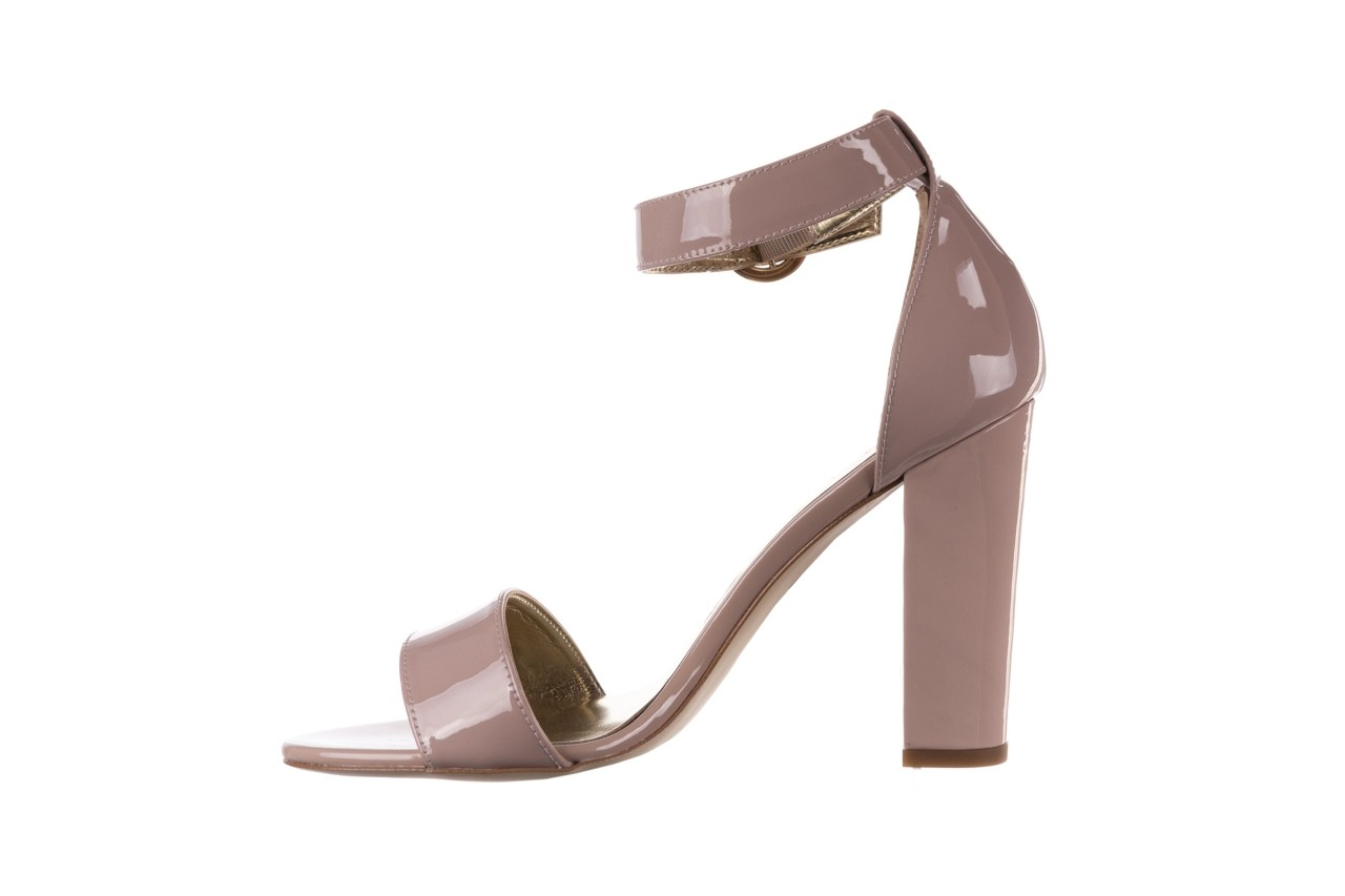 Sandały bayla-056 8024-430 beż lakier, skóra naturalna  - na obcasie - sandały - buty damskie - kobieta 9