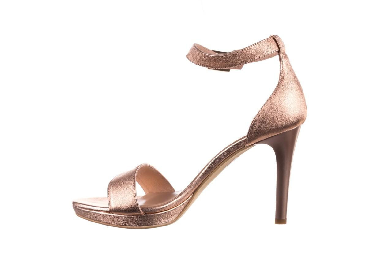 Sandały bayla-056 9177-1480 róż perła, skóra naturalna  - na obcasie - sandały - buty damskie - kobieta 9