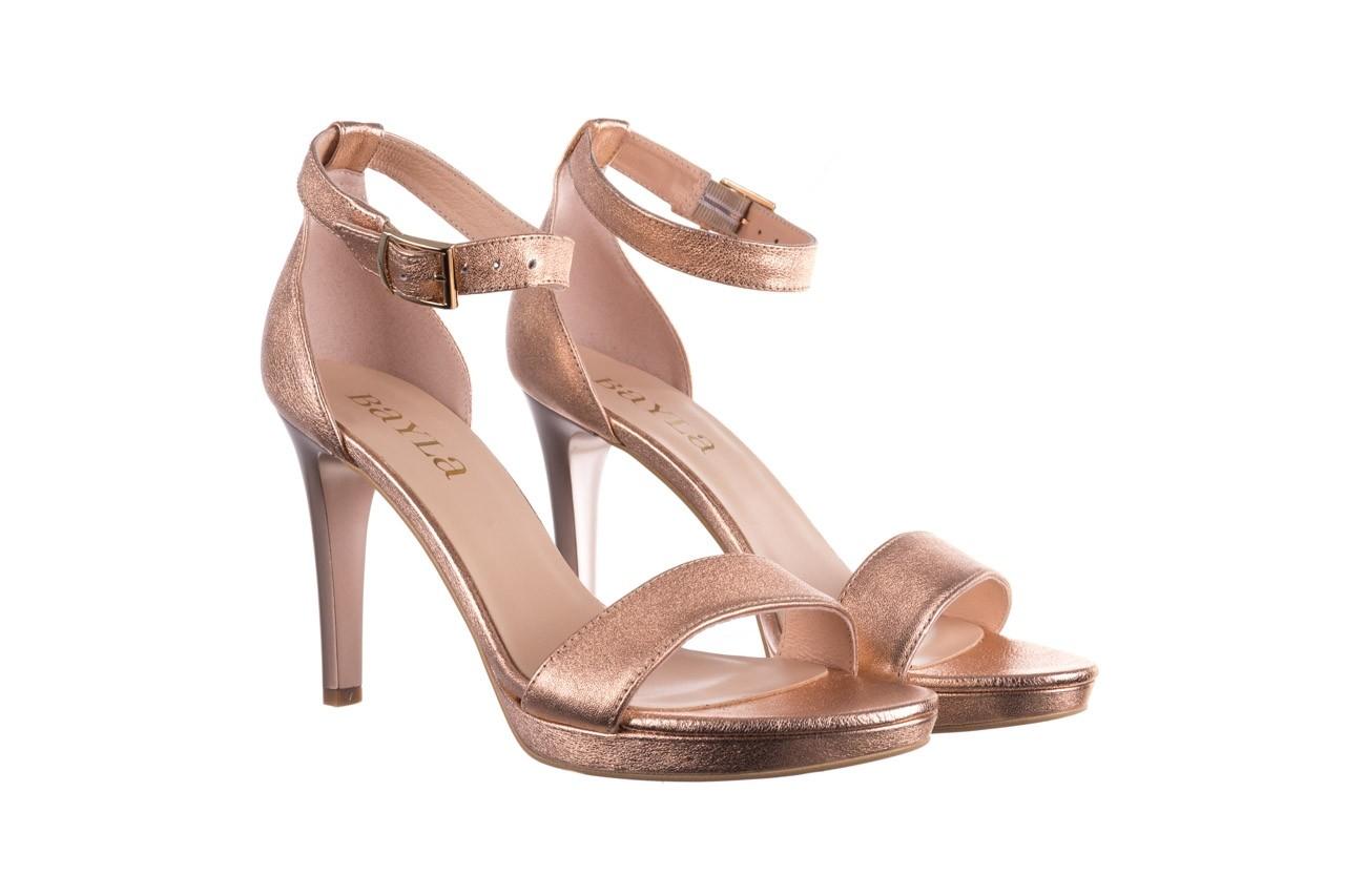 Sandały bayla-056 9177-1480 róż perła, skóra naturalna  - na obcasie - sandały - buty damskie - kobieta 8