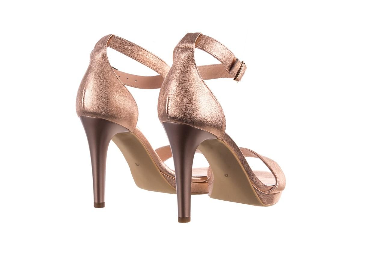 Sandały bayla-056 9177-1480 róż perła, skóra naturalna  - na obcasie - sandały - buty damskie - kobieta 10