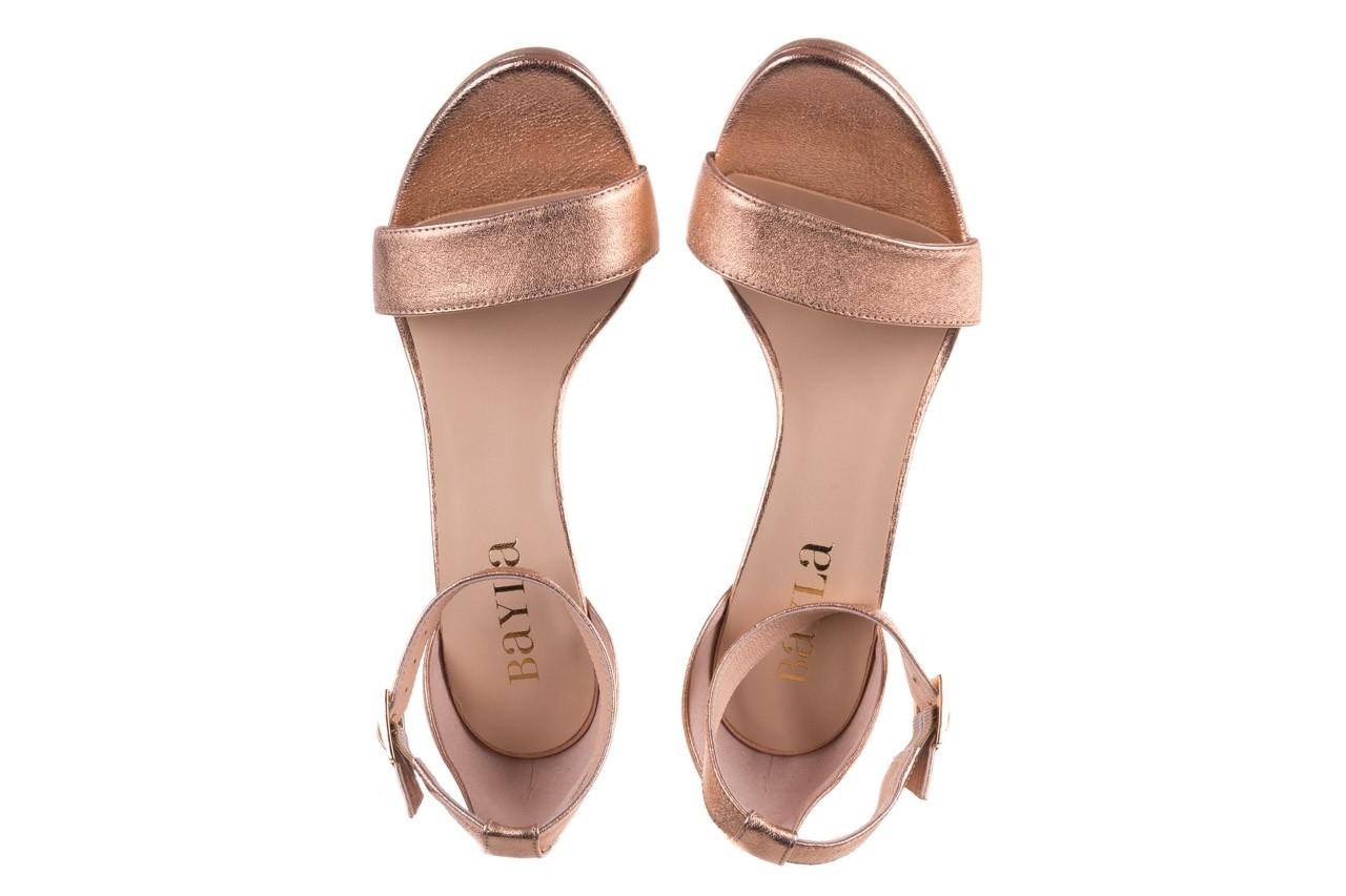 Sandały bayla-056 9177-1480 róż perła, skóra naturalna  - na obcasie - sandały - buty damskie - kobieta 11