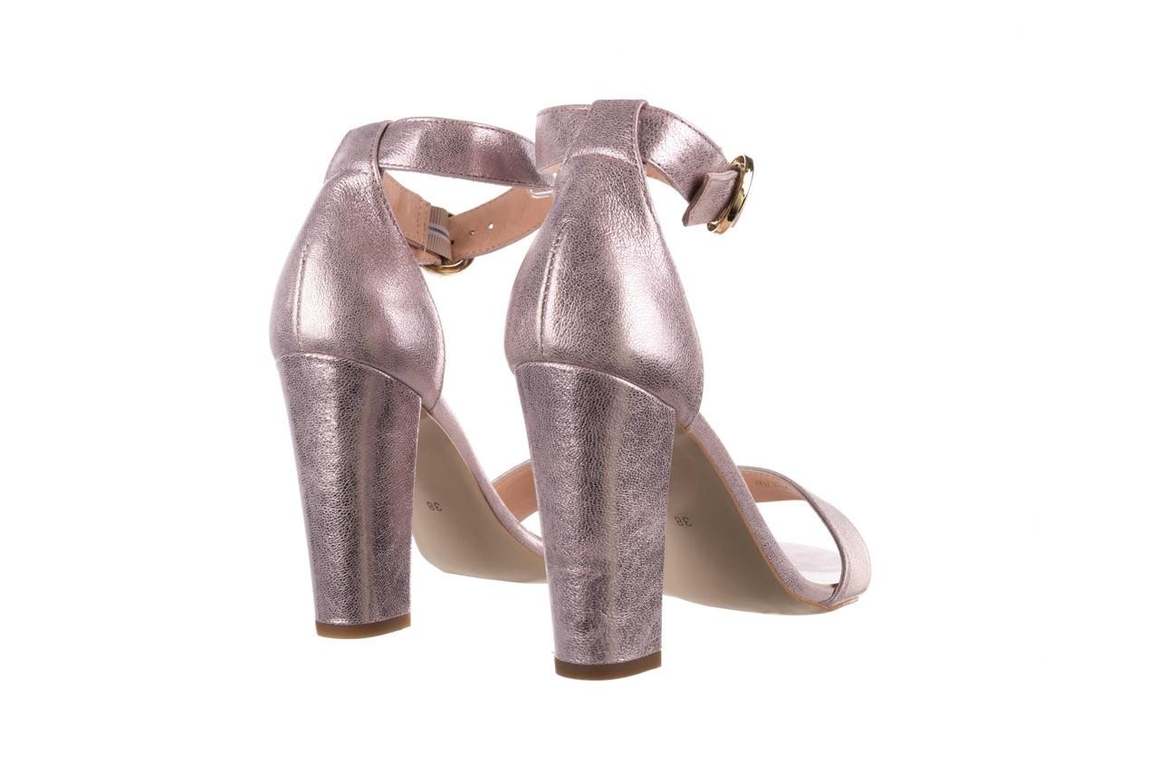 Sandały bayla-056 8024-994 lila perła, skóra naturalna 10