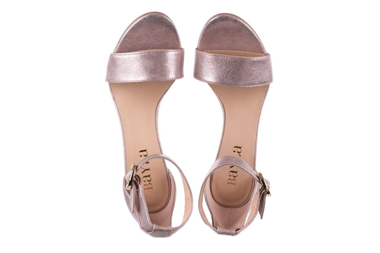 Sandały bayla-056 8024-994 lila perła, skóra naturalna 11