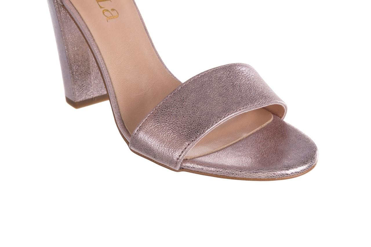 Sandały bayla-056 8024-994 lila perła, skóra naturalna 12