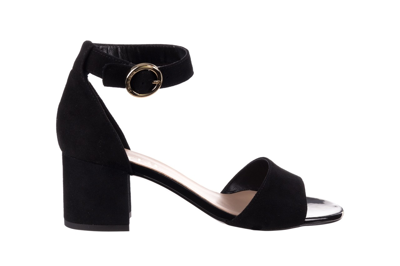 Sandały bayla-056 7049-21 czarny zamsz, skóra naturalna  - na obcasie - sandały - buty damskie - kobieta 7