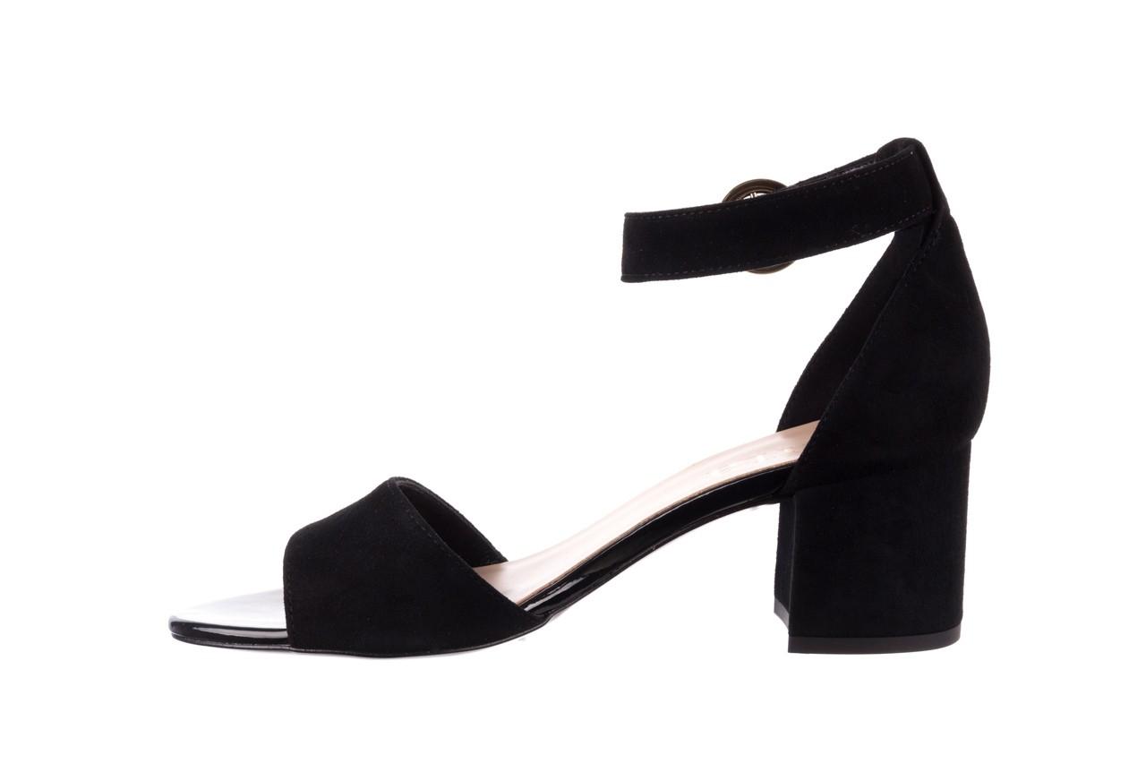 Sandały bayla-056 7049-21 czarny zamsz, skóra naturalna  - na obcasie - sandały - buty damskie - kobieta 9
