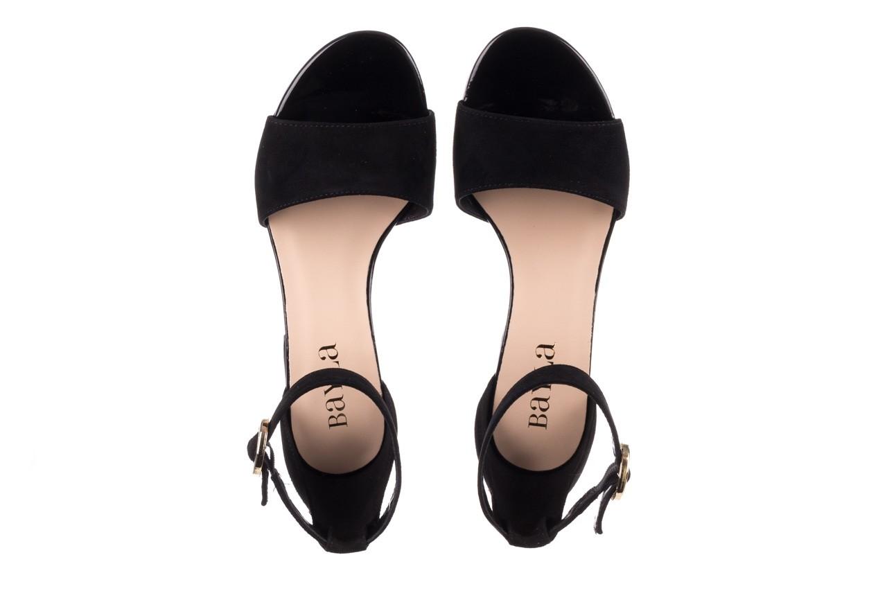 Sandały bayla-056 7049-21 czarny zamsz, skóra naturalna  - na obcasie - sandały - buty damskie - kobieta 11