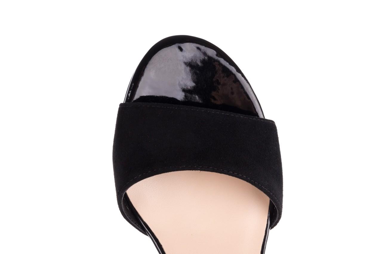 Sandały bayla-056 7049-21 czarny zamsz, skóra naturalna  - na obcasie - sandały - buty damskie - kobieta 12