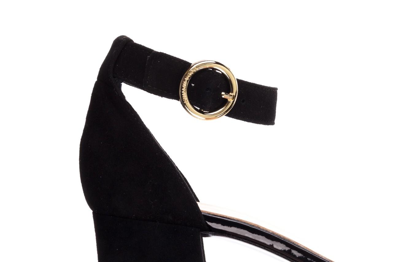 Sandały bayla-056 7049-21 czarny zamsz, skóra naturalna  - na obcasie - sandały - buty damskie - kobieta 13