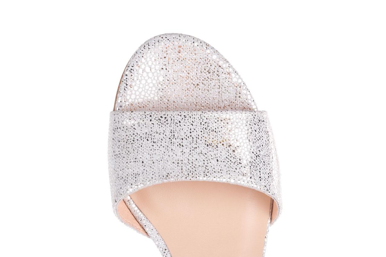 Sandały bayla-056 7049-1152 biały melanż, skóra naturalna  - dla niej  - sale 12