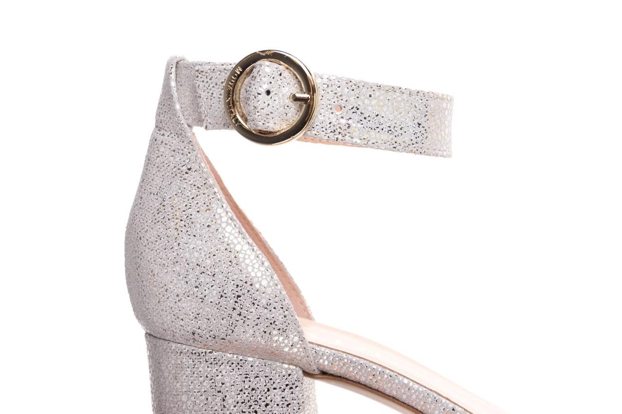 Sandały bayla-056 7049-1152 biały melanż, skóra naturalna  - na obcasie - sandały - buty damskie - kobieta 13