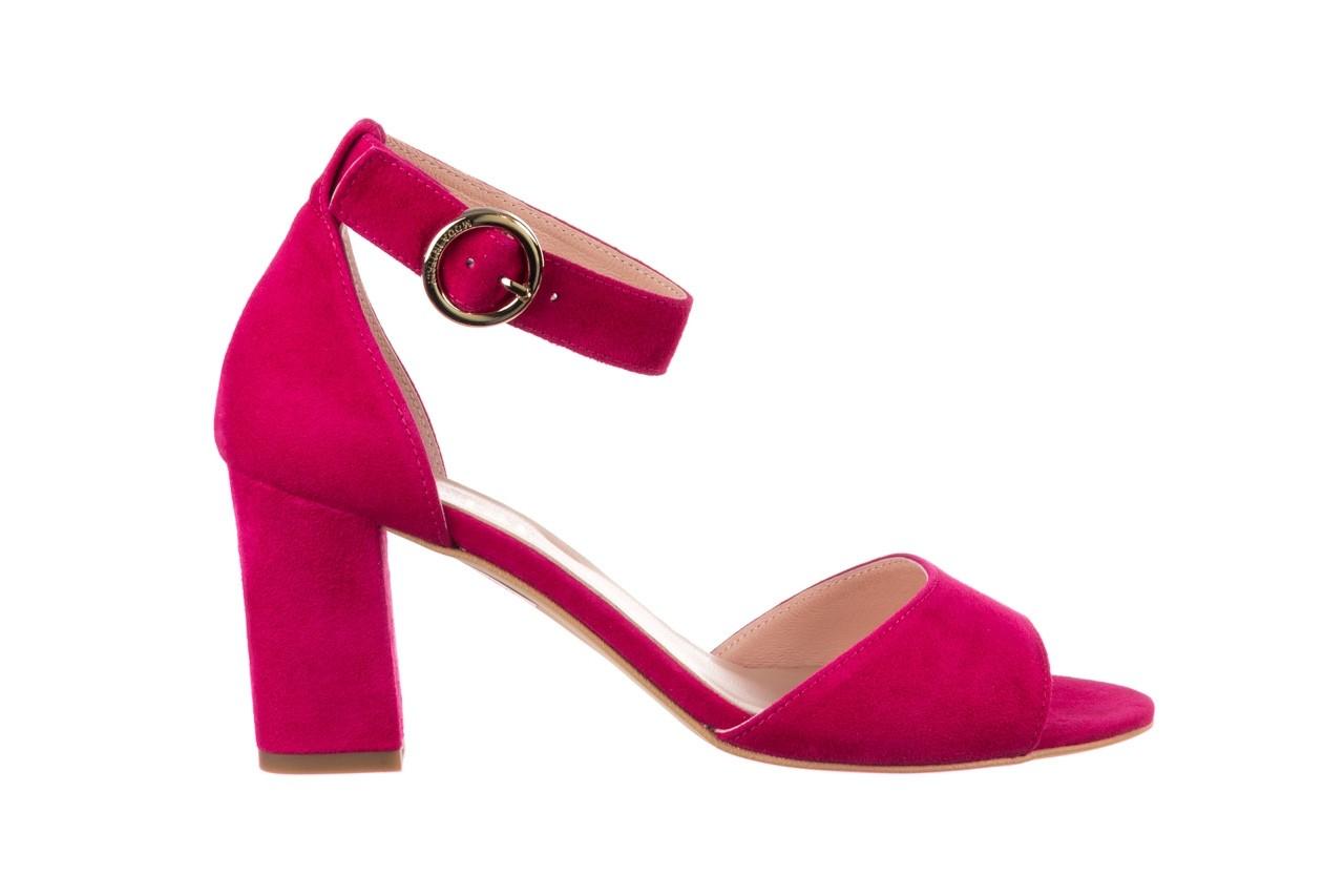 Sandały bayla-056 9249-1311 fuksja zamsz, skóra naturalna  - na obcasie - sandały - buty damskie - kobieta 6