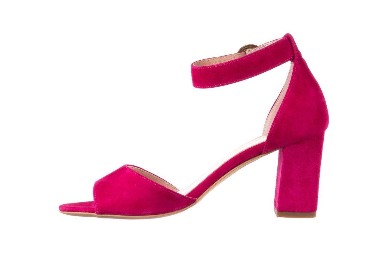 Sandały bayla-056 9249-1311 fuksja zamsz, skóra naturalna  - na obcasie - sandały - buty damskie - kobieta 8