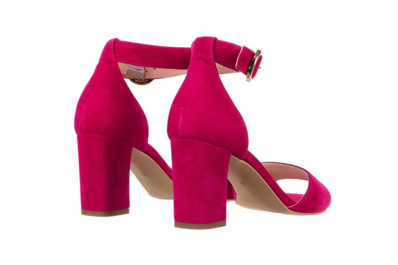 Sandały bayla-056 9249-1311 fuksja zamsz, skóra naturalna  - dla niej  - sale 9