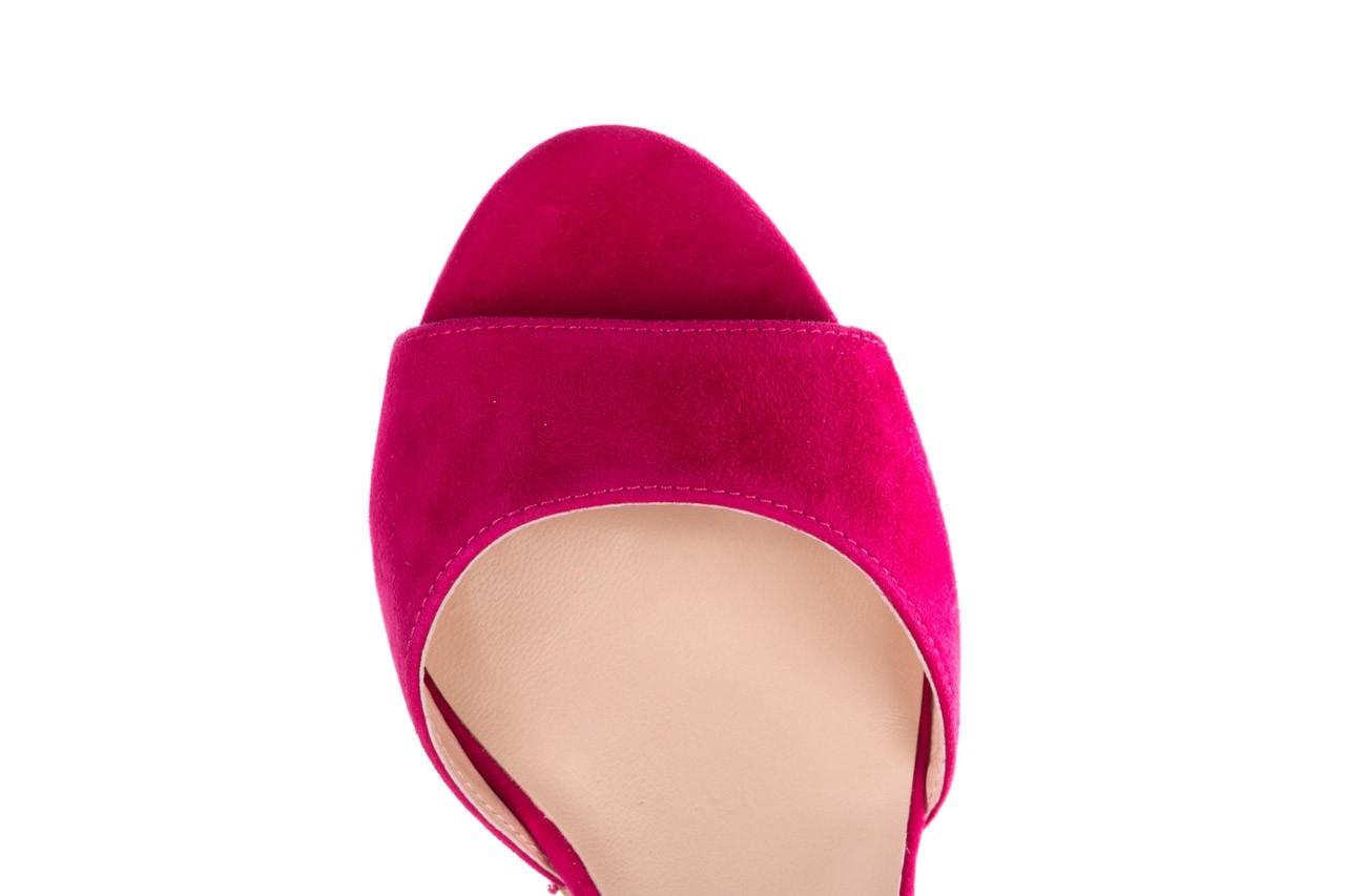 Sandały bayla-056 9249-1311 fuksja zamsz, skóra naturalna  - na obcasie - sandały - buty damskie - kobieta 10