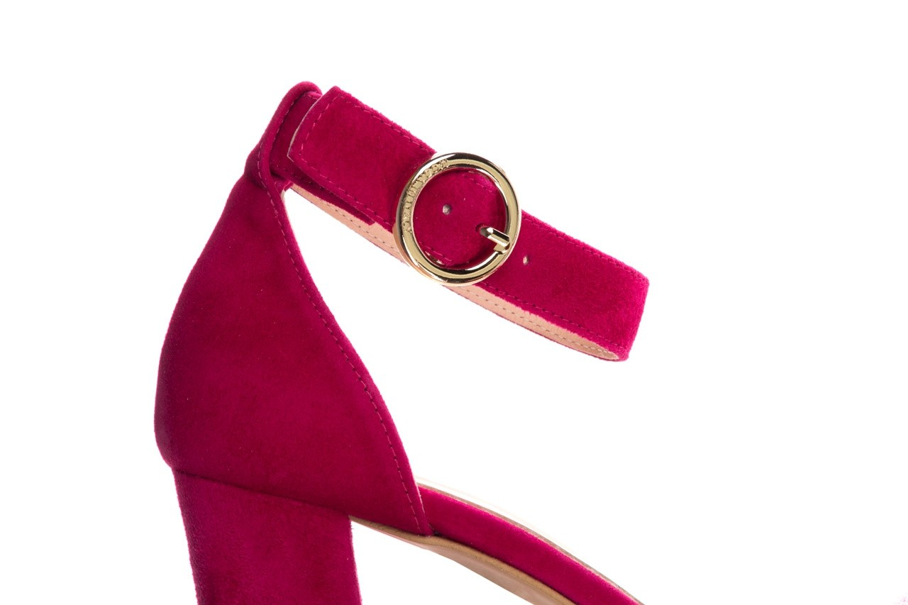 Sandały bayla-056 9249-1311 fuksja zamsz, skóra naturalna  - na obcasie - sandały - buty damskie - kobieta 11