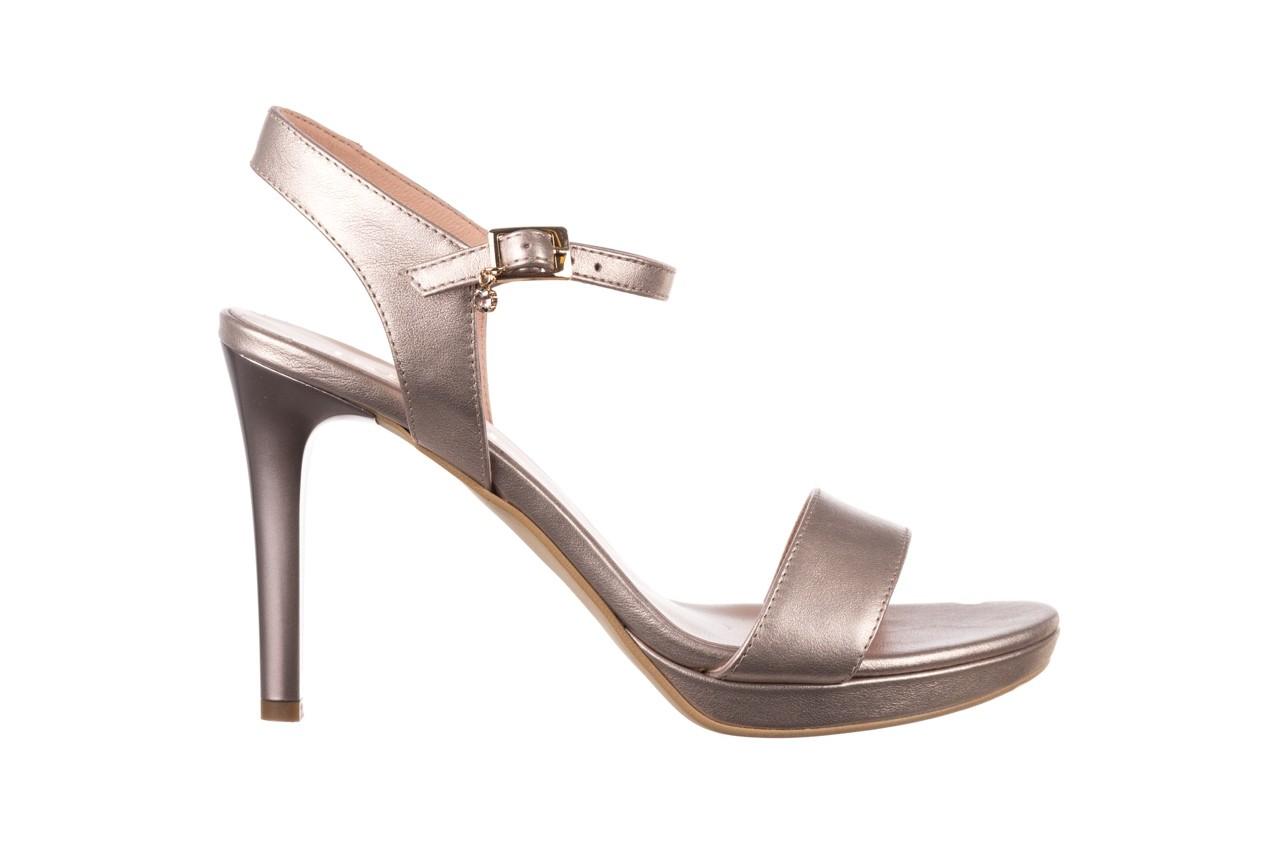 Sandały bayla-056 9163-1099 beż perła, skóra naturalna  - na obcasie - sandały - buty damskie - kobieta 7