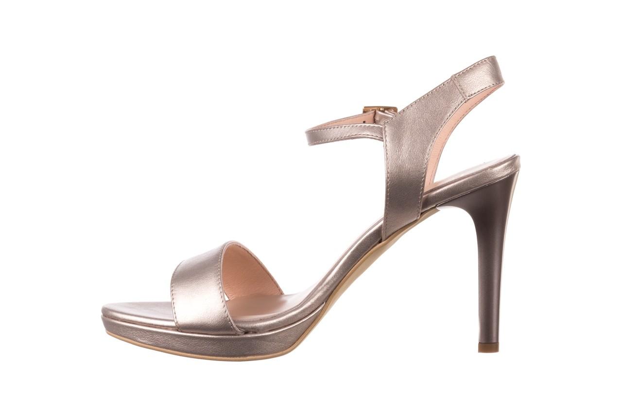 Sandały bayla-056 9163-1099 beż perła, skóra naturalna  - na obcasie - sandały - buty damskie - kobieta 9