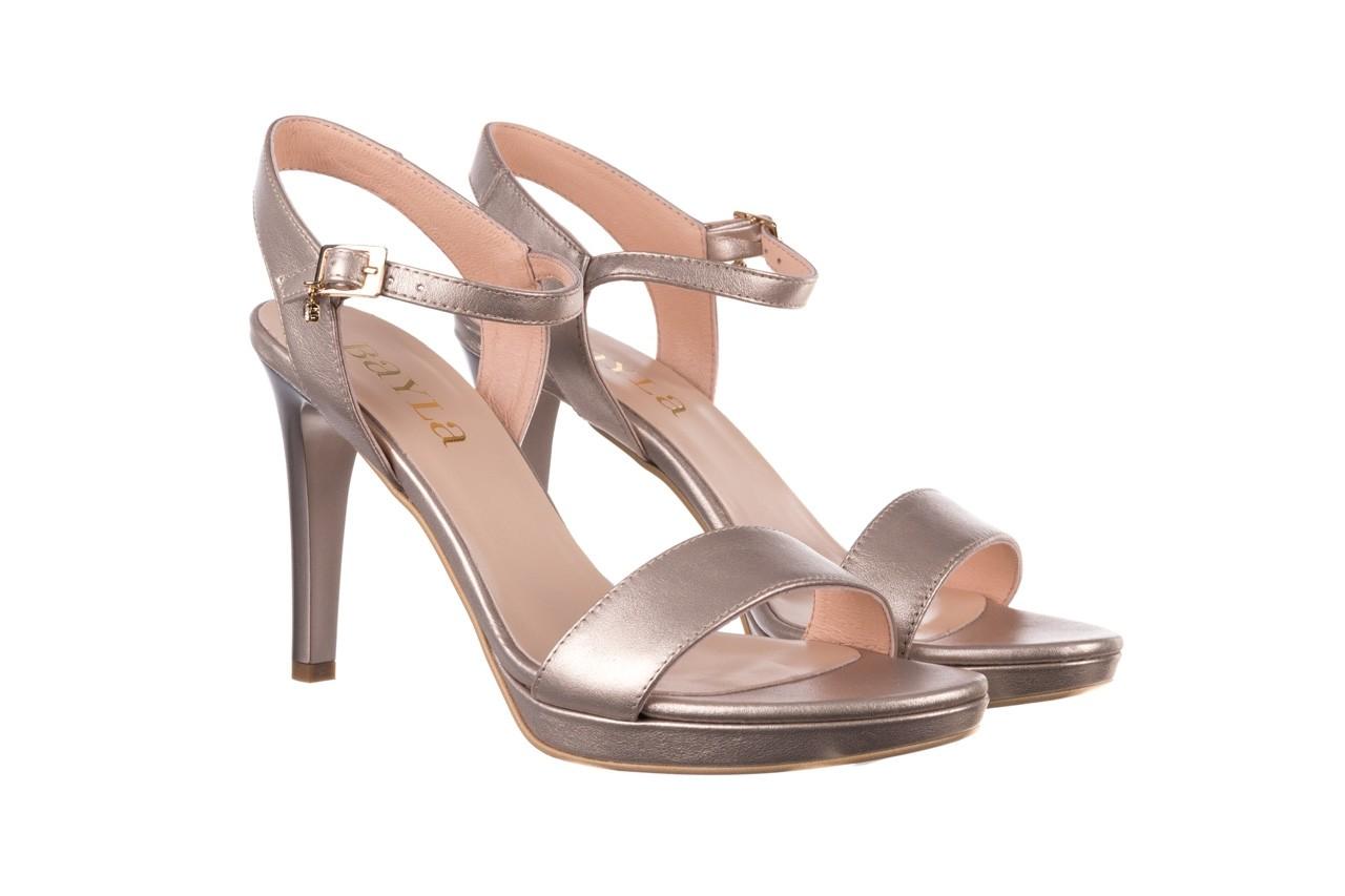 Sandały bayla-056 9163-1099 beż perła, skóra naturalna  - na obcasie - sandały - buty damskie - kobieta 8