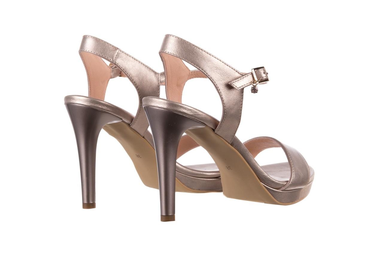 Sandały bayla-056 9163-1099 beż perła, skóra naturalna  - na obcasie - sandały - buty damskie - kobieta 10