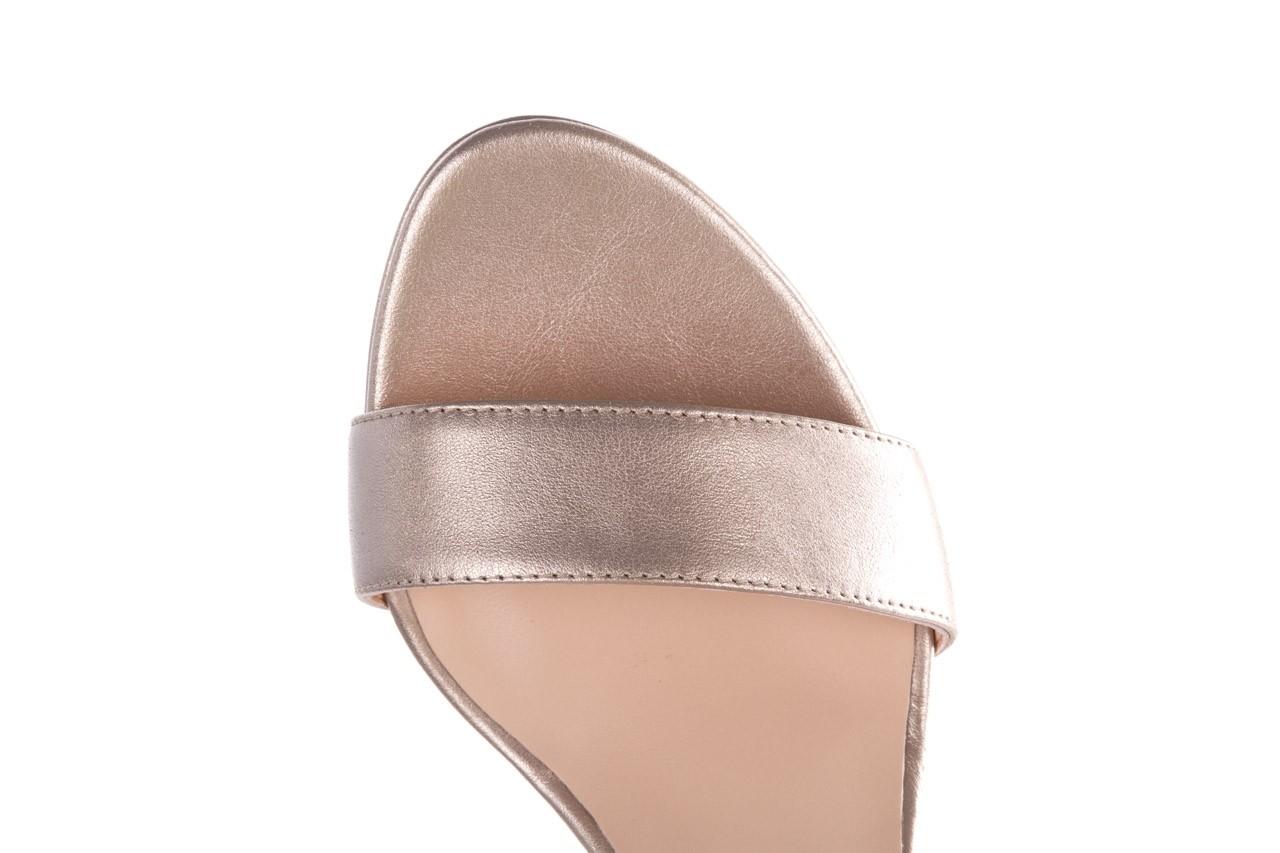 Sandały bayla-056 9163-1099 beż perła, skóra naturalna  - na obcasie - sandały - buty damskie - kobieta 12