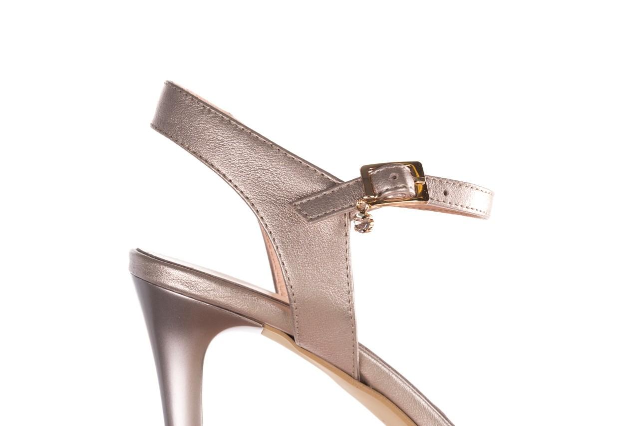 Sandały bayla-056 9163-1099 beż perła, skóra naturalna  - na obcasie - sandały - buty damskie - kobieta 13