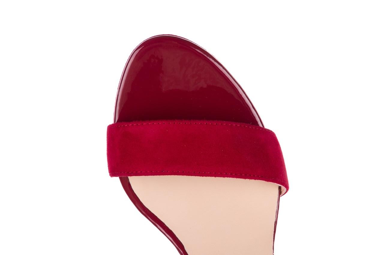 Sandały bayla-056 9163-1432 burgund zamsz, skóra naturalna  - formal style - trendy - kobieta 12