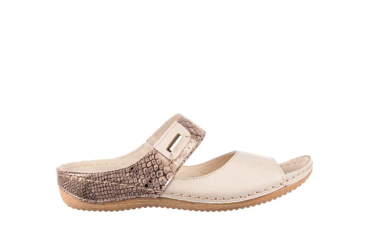 Klapki bayla-100 450 beż, skóra naturalna  - klapki - buty damskie - kobieta 7