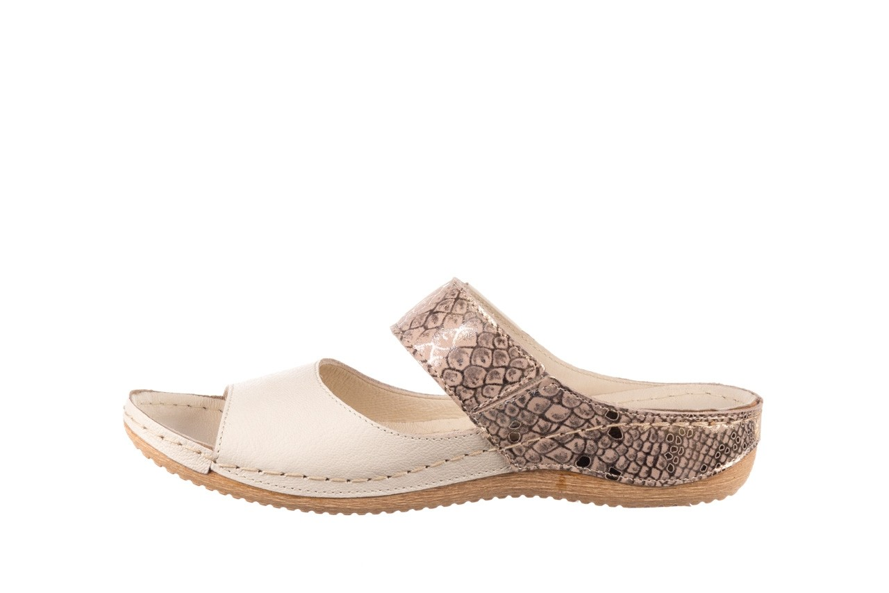 Klapki bayla-100 450 beż, skóra naturalna  - klapki - buty damskie - kobieta 9