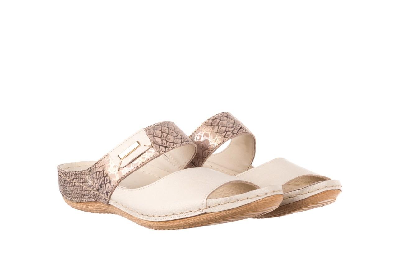 Klapki bayla-100 450 beż, skóra naturalna  - klapki - buty damskie - kobieta 8