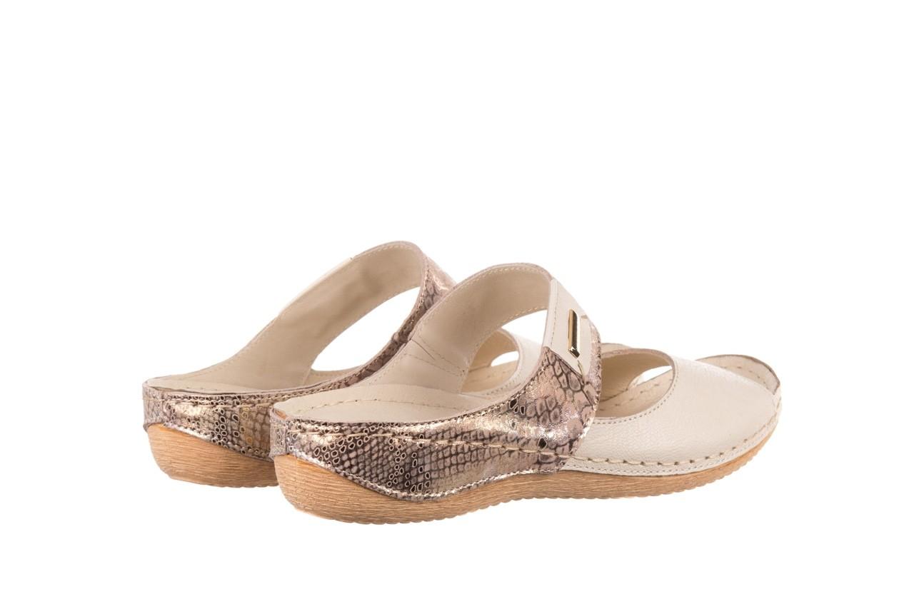 Klapki bayla-100 450 beż, skóra naturalna  - klapki - buty damskie - kobieta 10