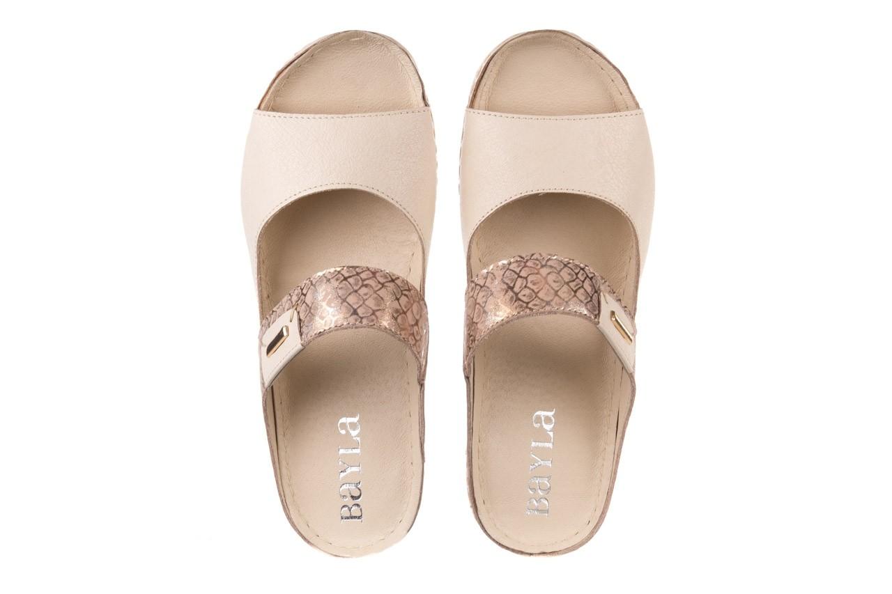Klapki bayla-100 450 beż, skóra naturalna  - klapki - buty damskie - kobieta 11