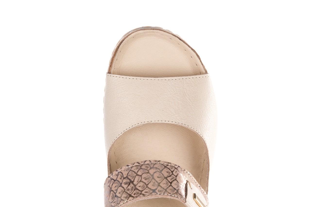 Klapki bayla-100 450 beż, skóra naturalna  - klapki - buty damskie - kobieta 12